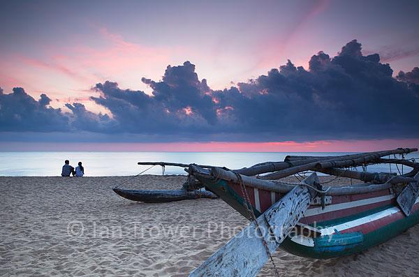 Negombo beach at sunset