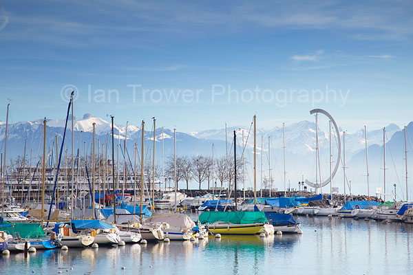 Ouchy harbour, Lausanne