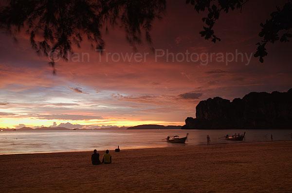 Sunset On Railay Beach