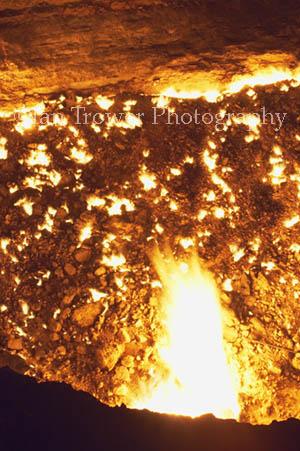 Gas Crater At Night, Darvaza