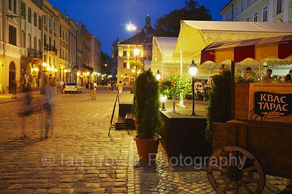 Market Square At Dusk, Lviv