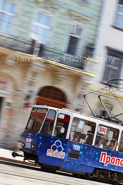 Blurred Tram, Lviv