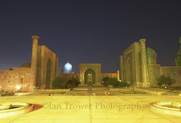 Registan At Night, Samarkand