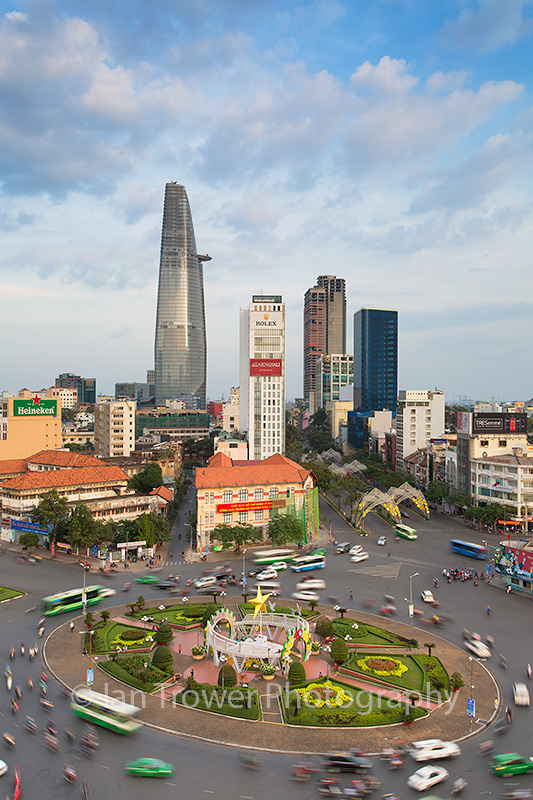 Roundabout and skyscrapers, Ho Chi Minh City