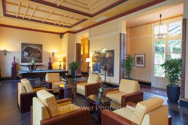 Lounge area in La Residence, Hue, Vietnam