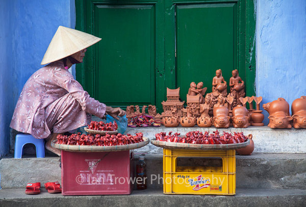 Woman selling souvenirs, Hoi An