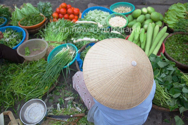 Vegetable vendor, Hoi An