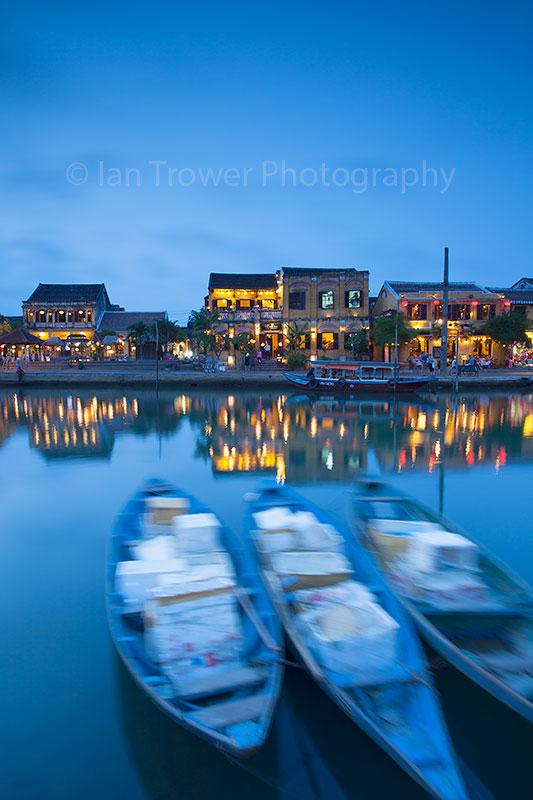 Boats on Thu Bon, Hoi An