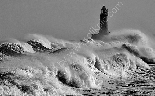 HC. Angry sea Tynemouth