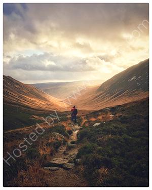 HC. Wanderer above Glen Rosa, Isle of Arran