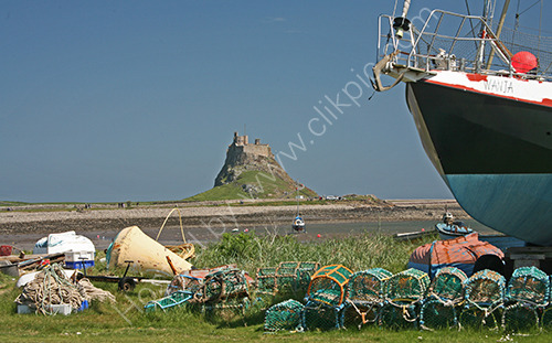 Holy Island Castle view