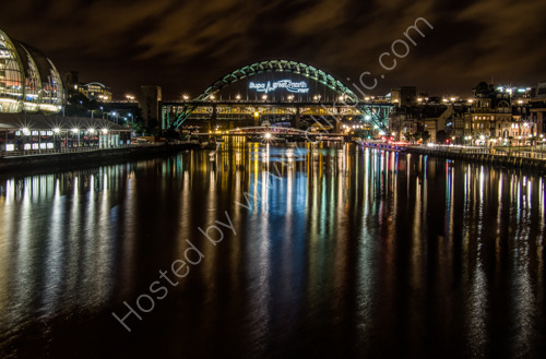 Lights up the Tyne