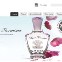 New Acqua Fiorentina banner at www.creedfragrances.co.uk