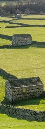 Stone barn on Swaledale, Yorkshire, England