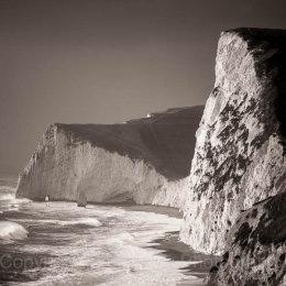 Cliffs and sea, Dorset, England