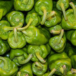 Green pepper stalks