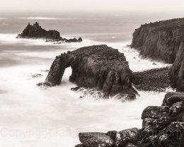 Rough sea at Enys Dodman , Land's End, Cornwall