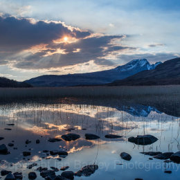 Sunset reflections on Isle of Skye, Scotland