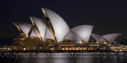 Australia, Sydney Opera House at night