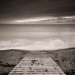 Slipway into the sea, Freshwater, Isle of Wight, England