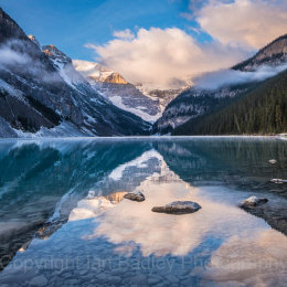 First light on Lake Louise, Banff National Park, Canada