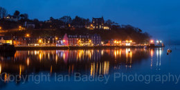 Tober,ory Harbour at night, Isle of Mull, Scotland