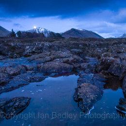 Moonrise over the  Isle of Skye, Scotland