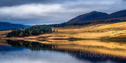 Sunlight reflections in the Scottish Highlands, Scotland