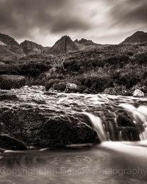 Swirling fairy Pools and Cuillin Hills, Isle of Skye, Scotland