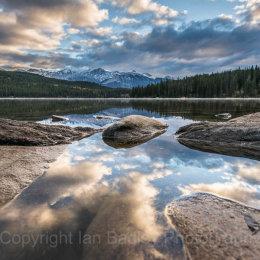 Canada, Jasper National Park, Low down on Pyramid Lake