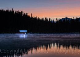 Before dawn on Lake Louise, Banff National Park, Canada