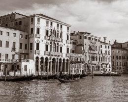 Italy, Venice, Gondola passing by