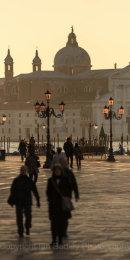 Italy, Venice, Winter walk across St Mark's Square