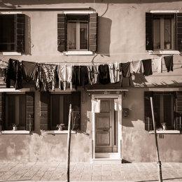 Italy, Venice, Wash day on Burano