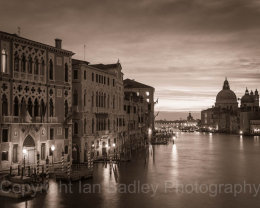 Italy, Venice, Twilight on the Grand Canal