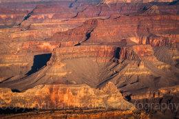 Sunset over the canyons of Grand Canyon National Park, Arizona, USA