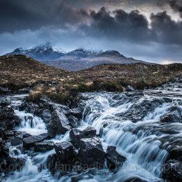 Waterfall on the River Sligachan,  Isle of Skye, Scotland