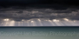 Storm clouds over the channel off the Isle of Wight, England