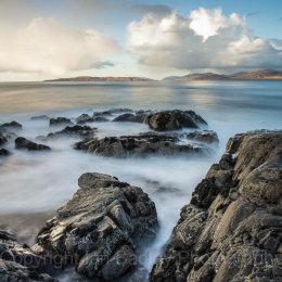 Ethereal sea and rocks on the Isle of Harris, Scotland