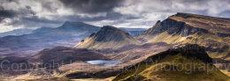 Scotland, Isle of Skye, Overlooking Totternish Ridge