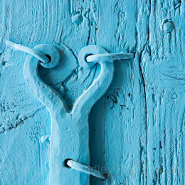 French  blue door and hinge, Vaucluse, France