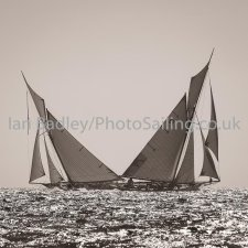 Duelling classic yachts