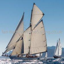 Back lit sails in the Med