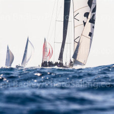 'Wally' yachts racing off Saint Tropez