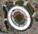 PIC SHOWS:- Latest aerial views of the Olympic site