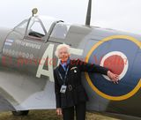 Biggin Hill 75 Anniversary of the Battle of Britain  Hardest Day . Mary Ellis one of the last surviving ATA pilot who ferried Planes Around Great Britain