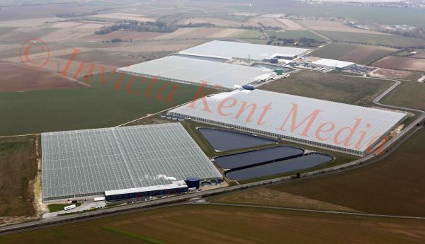 PIC SHOWS:-Aerial views of the Thanet Earth site, Birchington, Kent