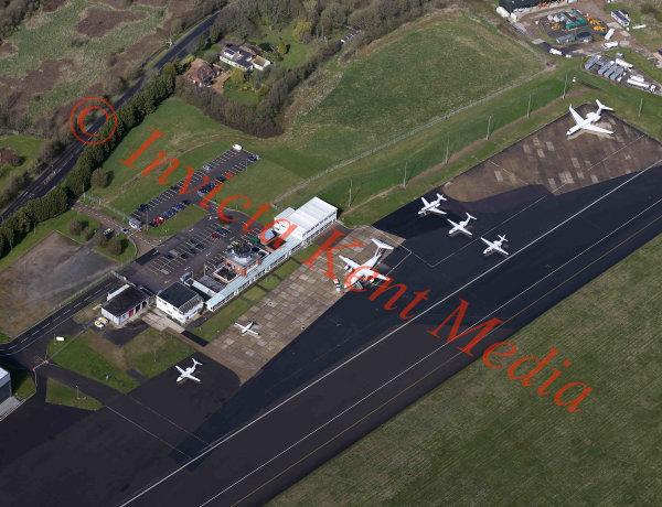 Aerial view of Biggin Hill airport, Kent, UK