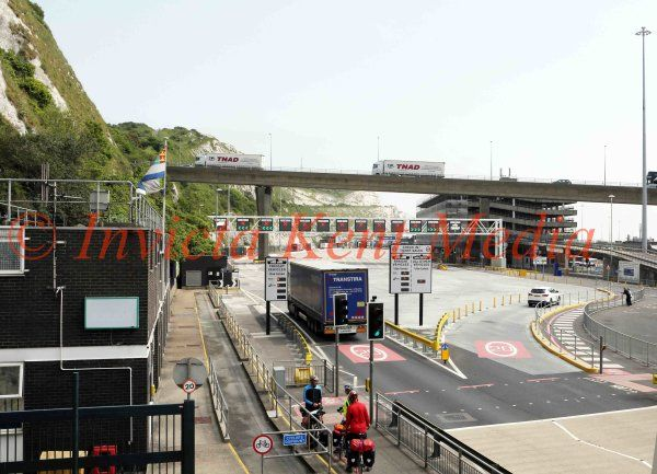 PIC SHOWS:- Entrance to Dover Docks in Kent, as of June 2016