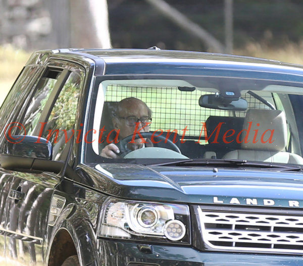 PIC SHOWS;Prince Phillip Drives his self of The Grouse Moors on The Balmoral Estate